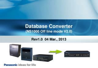 Database Converter (NS1000 Off line mode V2.0)