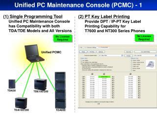Unified PCMC