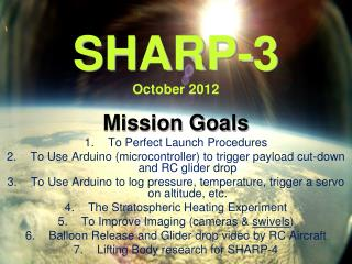 SHARP-3 October 2012