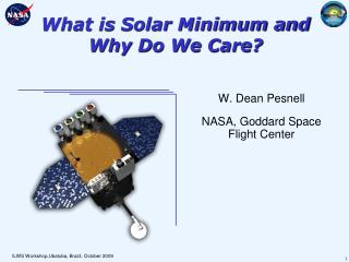 What is Solar Minimum and Why Do We Care?