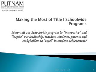 What is a Title I Schoolwide Program?