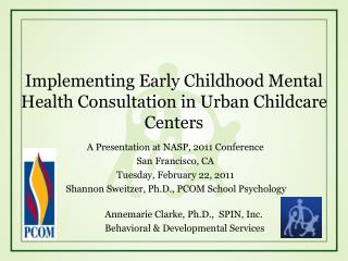 Implementing Early Childhood Mental Health Consultation in Urban Childcare Centers