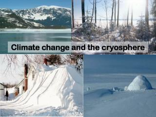 Climate change and the cryosphere