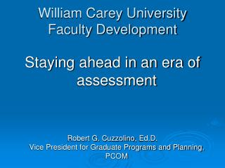 William Carey University Faculty Development