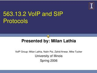 563.13.2 VoIP and SIP Protocols