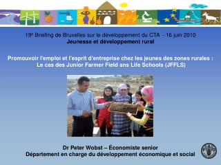 Dr Peter Wobst – Économiste senior Département en charge du développement économique et social