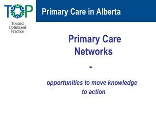 Primary Care in Alberta