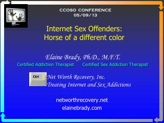Elaine Brady, Ph.D., M.F.T.  Certified Addiction Therapist      Certified Sex Addiction Therapist