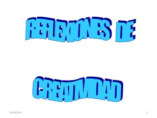 REFLEXIONES    DE CREATIVIDAD