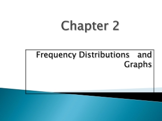 Frequency Distributions Step 1:   Find Classes