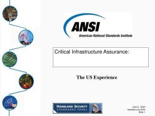 Critical Infrastructure Assurance: