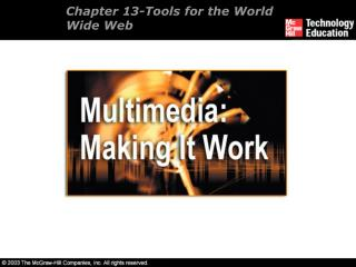 Chapter 13- Tools for the World Wide Web