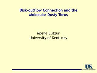 Disk-outflow Connection and the  Molecular Dusty Torus