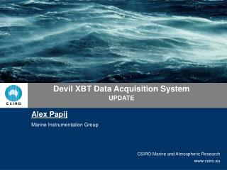 Devil XBT Data Acquisition System UPDATE