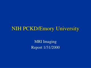 NIH PCKD/Emory University