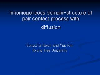 Inhomogeneous domain-structure of pair contact process with diffusion