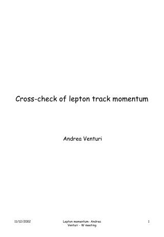 Cross-check of lepton track momentum