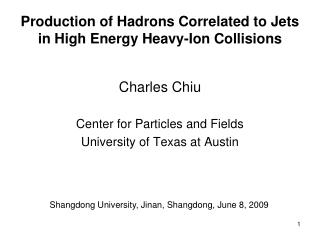 Production of Hadrons Correlated to Jets      in High Energy Heavy-Ion Collisions