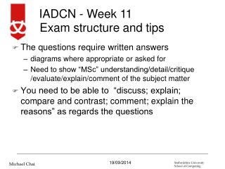 Exam structure and tips