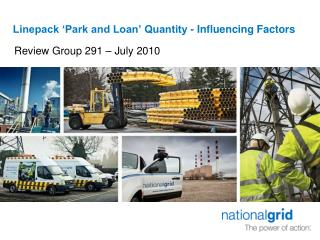 Linepack 'Park and Loan' Quantity - Influencing Factors