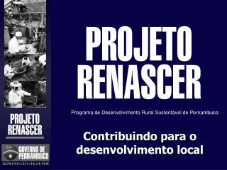 Contribuindo para o desenvolvimento local