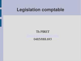 Legislation comptable