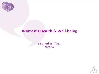 Women's Health & Well-being