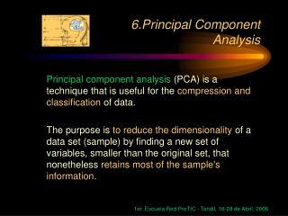 6.Principal Component Analysis