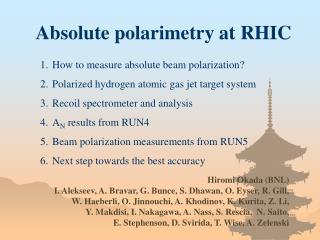 Absolute polarimetry at RHIC