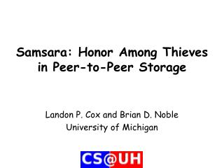 Samsara: Honor Among Thieves in Peer-to-Peer Storage