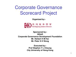 Corporate Governance Scorecard Project
