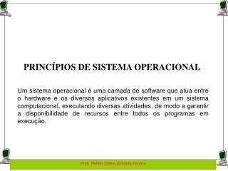 PRINCÍPIOS DE SISTEMA OPERACIONAL