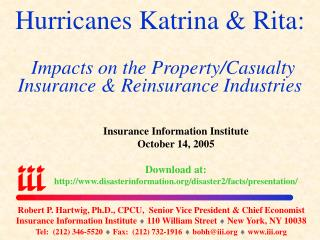 Property/Casualty Insurance  Reinsurance Industries