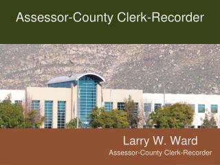 Assessor-County Clerk-Recorder