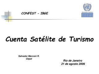 Cuenta Satélite de Turismo