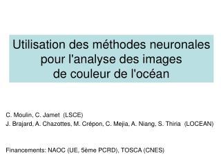 Utilisation des méthodes neuronales  pour l'analyse des images de couleur de l'océan