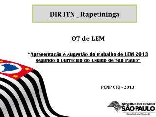 DIR ITN _ Itapetininga