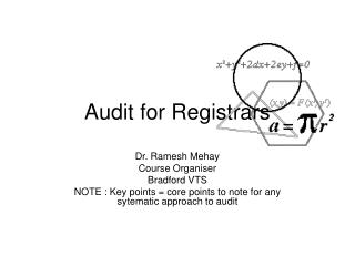 Audit for Registrars