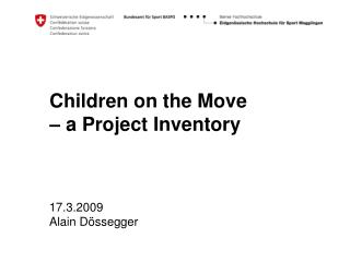 Children on the Move  – a Project Inventory