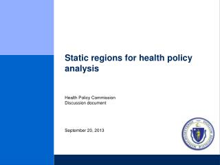 Static regions for health policy analysis