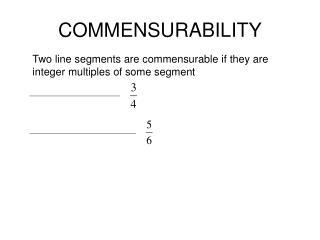 COMMENSURABILITY