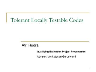 Tolerant Locally Testable Codes
