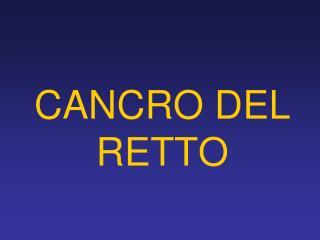CANCRO DEL RETTO