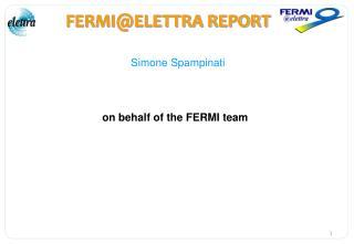 FERMI@ELETTRA REPORT