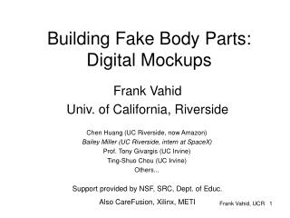 Building Fake Body Parts: Digital Mockups