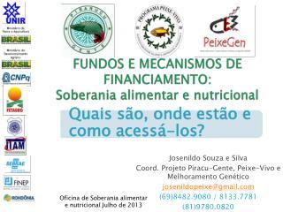 FUNDOS E MECANISMOS DE FINANCIAMENTO: Soberania alimentar e nutricional