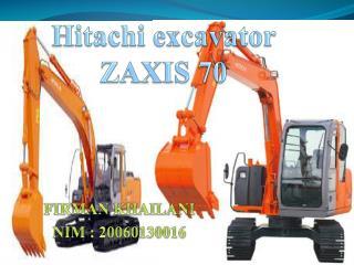 Hitachi excavator ZAXIS 70