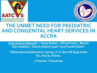 The unmet need for paediatric and congenital heart services in Accra
