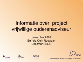 Informatie over  project vrijwillige ouderenadviseur