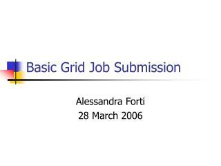 Basic Grid Job Submission
